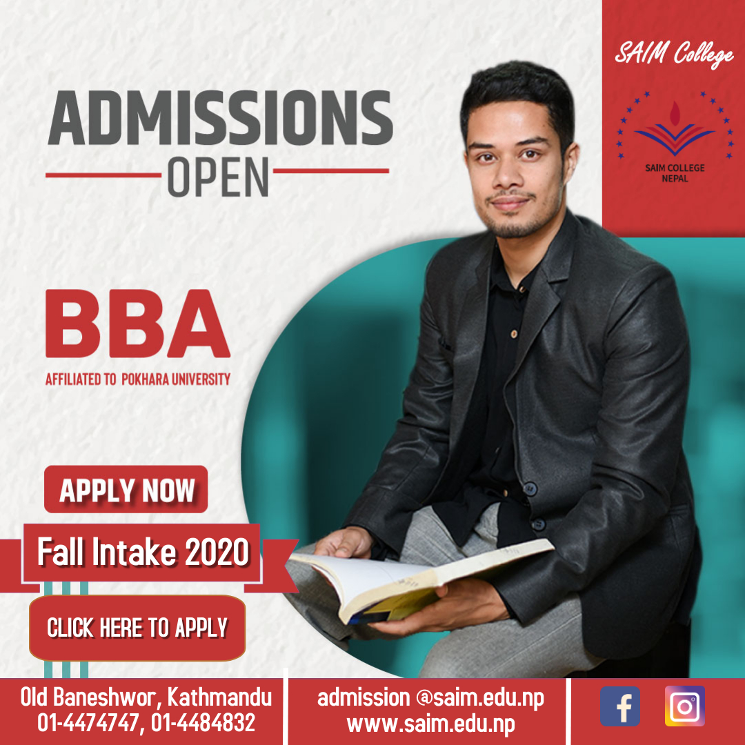Admissions Open BBA Fall 2020